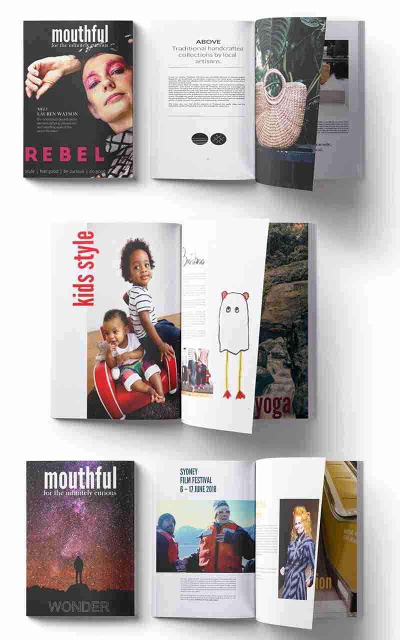 Mouthful Magazine design layout