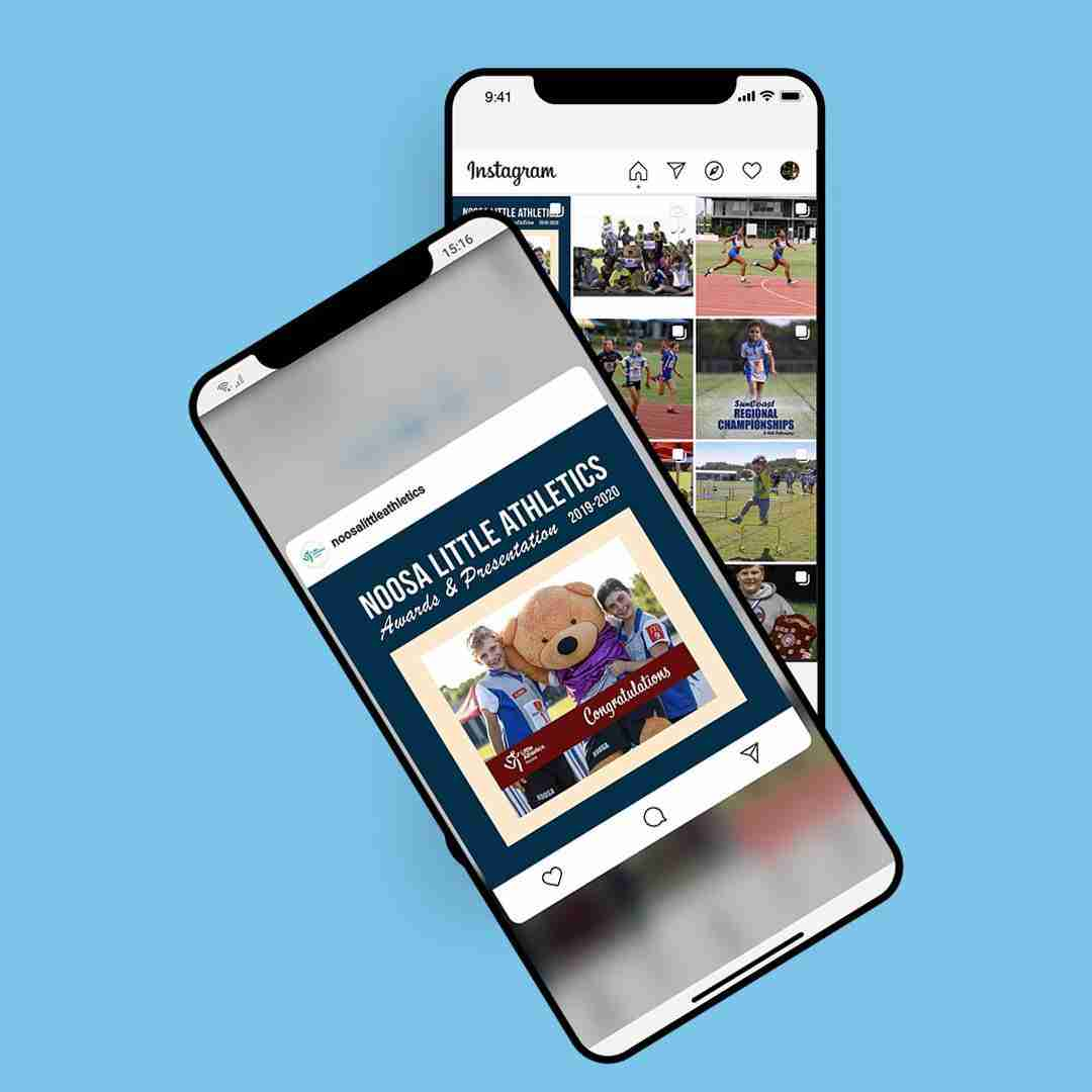 Noosa Little Athletics Instagram mockup