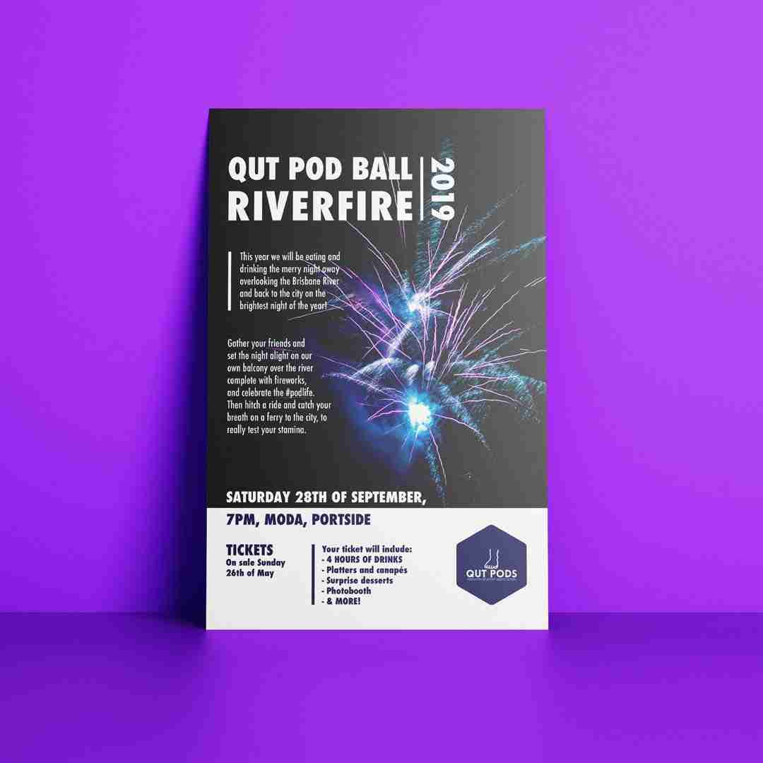 Graphic design poster mockup