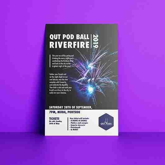 Poster design for QUT POD Ball