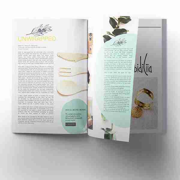 Mouthful magazine page layout design