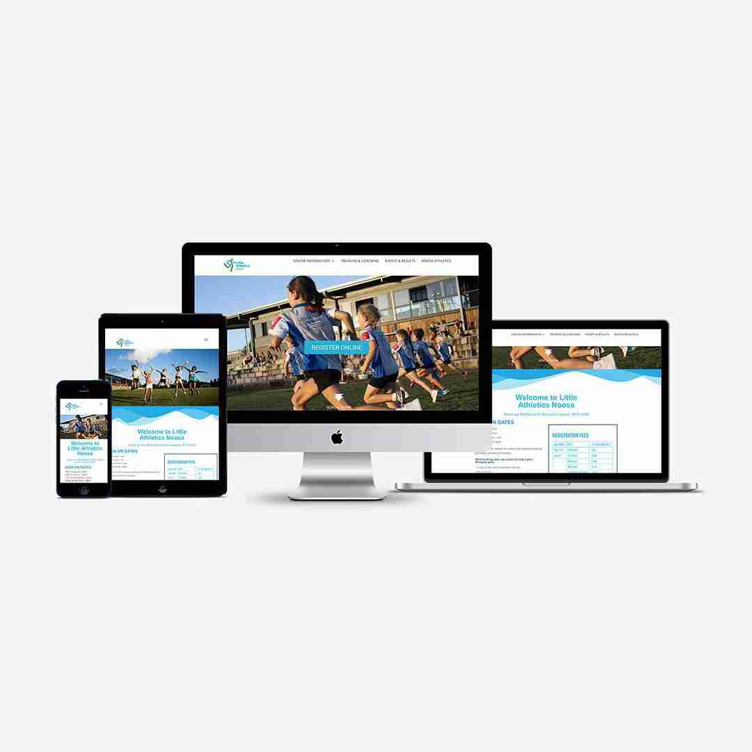 Noosa Little Athletics Website Mockup